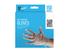 150 Multi Purpose Transparent Plastic Safety Gloves Disposable Hairdressing