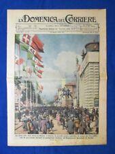 La Domenica del Corriere 24 aprile 1938 Fiera di Milano - R.Bertoni - XXI aprile