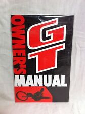 Rare NOS Sealed 80s/90s GT OWNERS MANUAL For Old School BMX Freestyle Show Bike