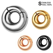 Smooth Round EAR WEIGHTS Silver Large Segment Ring Rose Gold Ear Hangers 6mm 8mm