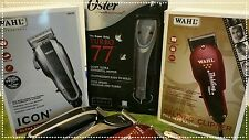 PROFESSIONAL OSTER TURBO 77, 2-SPEED ,WAHL ICON  & WAHL BALDING ((( #WS-01 )))