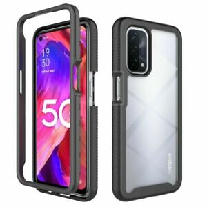 For OPPO A54 5G / A74 5G Crystal Case 360 Protect Hard Transparent Back Cover
