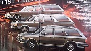 ★★1982 MARQUIS COUGAR LYNX WAGON VINTAGE AD 82 FORD PHOTO Advertisement★★
