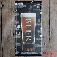 Metal Tin Sign beer porter Decor Bar Pub Home Vintage Retro Poster Cafe ART