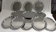 More details for 11x metal oval serving trays hors d' oeuvres / sandwiches