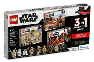 NEW Skywalker Adventures Pack 3-IN-1 LEGO Star Wars Gift Set Exclusive 66674
