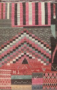 Geometric Moroccan Berber Oriental Area Rug Hand-knotted Plush Wool 10x14 Carpet
