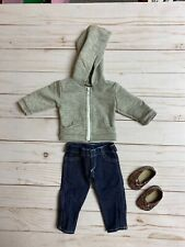 """Doll Clothes - gray zip hoodie & jeans -Sophia's - Fits 18"""" American Girl Dolls"""