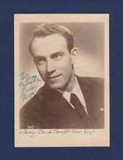 """Charles """"Buddy"""" Evans signed Jazz Vocalist photo- Big Band with Jimmy Dorsey"""