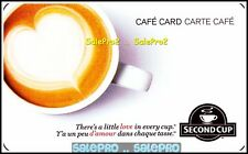 SECOND CUP COFFEE LATTE ART HEART LITTLE LOVE IN EVERY CUP COLLECTIBLE GIFT CARD