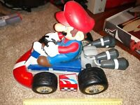 "Large Super Mario Kart Wii RC Remote Control Car 1/8 Scale No Remote 17""x10""x10"""