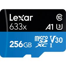 Lexar 633x 256GB micro SD SDHC SDXC TF UHS-I U3 V30 Class10 Memory Card 4K GoPro