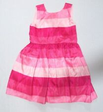 NEW Gymboree Girls Easter Dress Pink Striped Formal Party Sleeveless Bow 4T