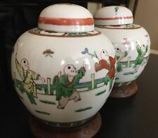 IMPRESSIVE Antique Chinese Ginger jars signed - A Pair