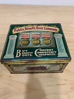 Vintage Public Benefit Boot Company Tin Container Made In England