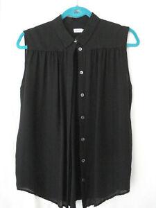 Bluse für Damen, schwarz, Seide, Größe L, ärmellos, von Filippa K