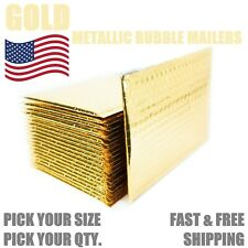 Gold Metallic Bubble Mailers Padded Envelope Protective Packaging Bags Mailers
