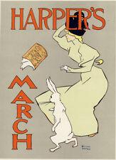 """1896 original litho """"Harpers"""" Edward Penfield, Maîtres de l'Affiche PL 20"""