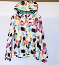 Bench Women's Sz S Zip Hooded Jacket Multicolor Illusion Print Fall