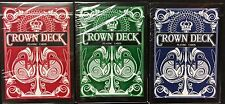 Crown 3 Deck Set Playing Cards V1 Poker Size USPCC Custom Limited Edition Sealed
