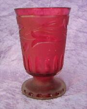 Altes Glas Ranftbecher Biedermeierzeit um 1840
