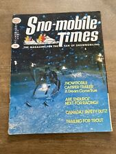 1972 January Snowmobile Times Magazine John Ickler