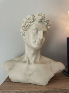 Decolone Handmade Statue Bust of David Stands 10+ Inches Resin