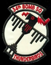 USAF 34th Bomb Squadron Thunderbirds Patch T-4