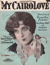 VITAPHONE film song MY CAIRO LOVE from talkie ONE STOLEN NIGHT Zamecnik 1929