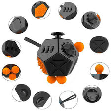 12-Side Fidget Cube Toy Anxiety Stress Attention Relief Puzzle Kids Adut Therapy