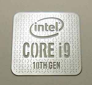 Intel Core i9 10th Gen Silver Chrome Sticker 18 x 18mm Case Badge