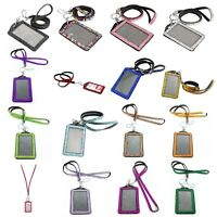 1X(Rhinestone Bling Crystal Custom Lanyard Vertical ID Badge Holder G9U7)