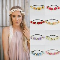 Fashion Girl Floral Flower Rose Party Wedding Hair Wreaths Headband Hair Band
