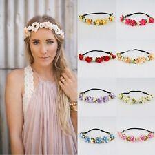 Girl  Floral Flower Rose Party Wedding Hair Wreaths Headband Hair Band