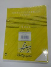 Feuillets mobiles dessin blanc Calligraphe 80 pages 17x22 90g