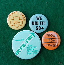 GIRL SCOUT - LOT OF GIRL SCOUT COOKIE SALES PINBACKS