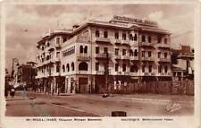SALONICA, GREECE, MEDITERRANEAN PALACE HOTEL, RPPC, used Postage Due Cancel 1932