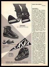 1961 Saska Ski Equipment Company Los Angeles California Kneissl Strolz Print Ad
