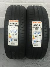 2 x 185/55 R15 Maxxis Mecotra ME3 82H 185 55 15 (1855515) - TWO TYRES (NEW)