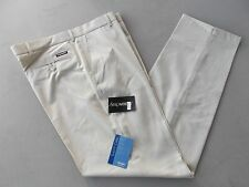 "STROMBERG Ecru Golf Trousers 36"" Long Easy Care"