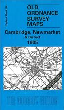 OLD ORDNANCE SURVEY MAP CAMBRIDGE, NEWMARKET, SOHAM, WATERBEACH & DISTRICT 1905