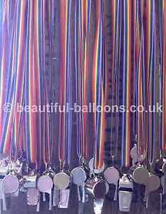 6 'Gay Pride' Whistles on Rainbow Ribbon!