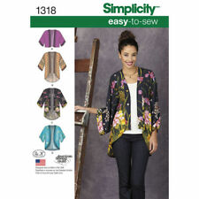 Simplicity Sewing Pattern 1318  Size 4-26 Women's Misses' Easy Kimono Jackets