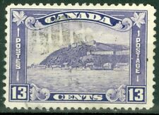 Canada 1932 - 13¢ Dull Violet Quebec Citadel Sc#201