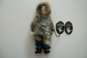 Authentic Vintage Handcrafted Alaskan 7 inch Native Art Doll w/Original Tag