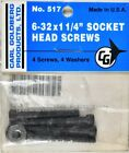Carl Goldberg 517 6-32 x 1 1/4 Socket Head Screws GBG517