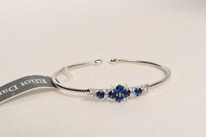 Eliot Danori Silver Tone Blue & Clear Crystal Bracelet $70 New