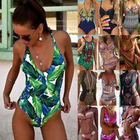 Womens Swimsuit Monokini Swimwear Bathing Suit Padded Bikini Bathing Beachwear