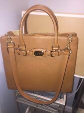 Michael Kors Hamilton Large Leather Tote Satchel handbag Acorn color  NWT