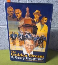 GERRY FAUST Golden Dream signed book Notre Dame University football 97 autograph